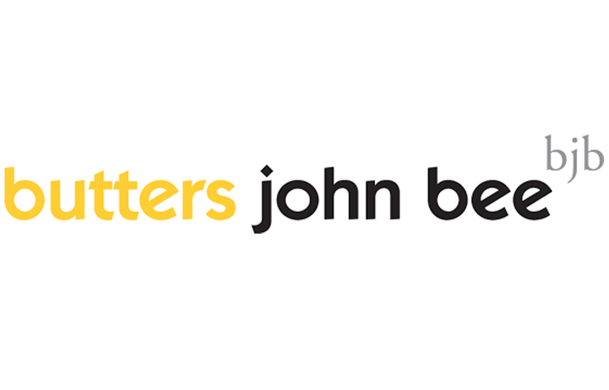 Illustration of the butters john bee logo