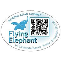 Image of a flying elephant.